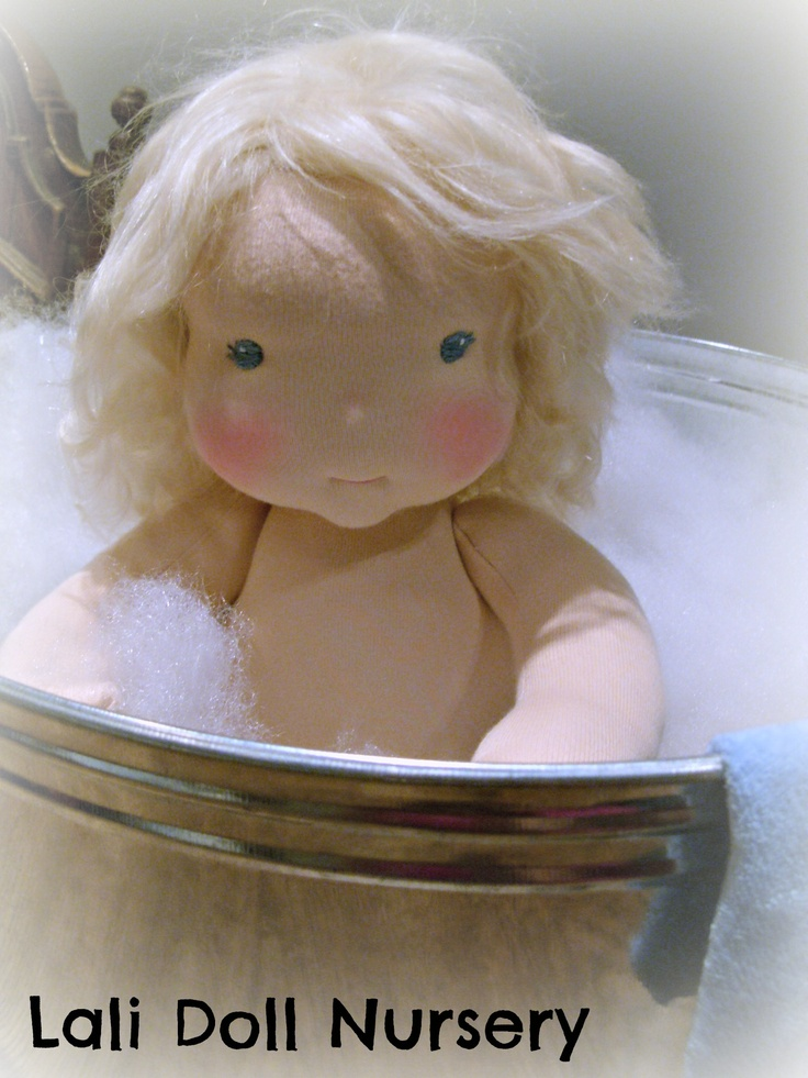 Bath time dolly Baby Heaven waldorf inspired Lali Doll