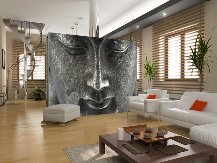 Buddha wall mural this is where i live someday pinterest for Wallpaper home murals