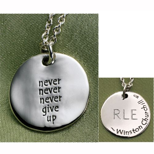 never give up necklace jewelry