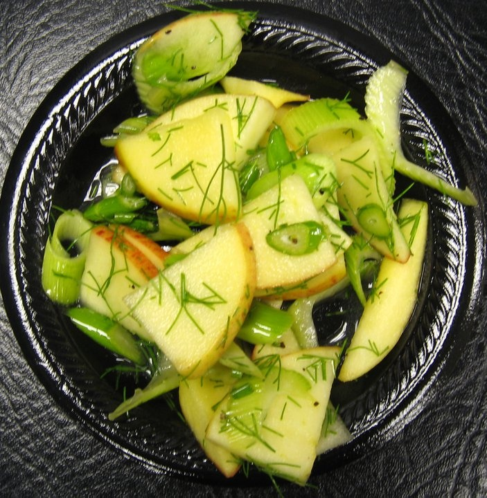 Apple-fennel salad with ouzo vinaigrette.