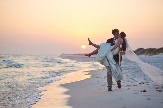 WaterColor beach wedding by pauljohnsonphoto.com