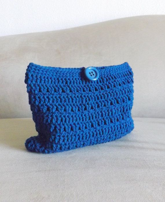 Crochet Cosmetic Bag : Crochet peacock make up bag, crochet cosmetic bag, crochet mini bag ...