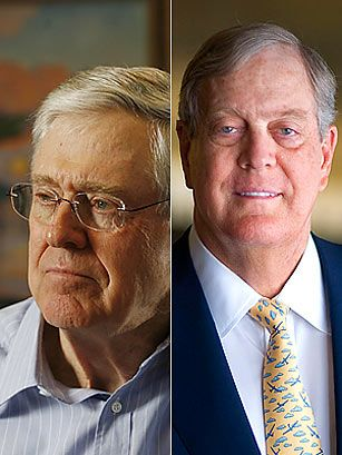 Should charles and david koch be on the time 100 for David und charles koch