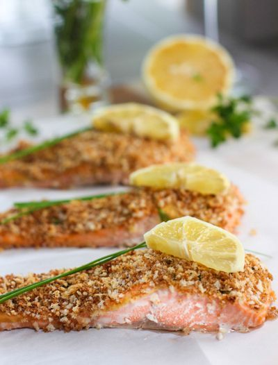 Panko Crusted Salmon | Recipes to try | Pinterest