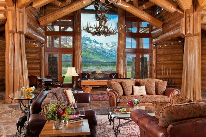Rustic cabin decor dream home pinterest for Winter cabin bedding