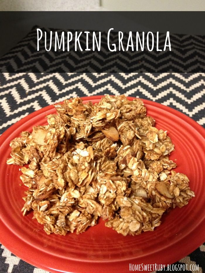 Pumpkin Granola | Breakfast & Lunch | Pinterest