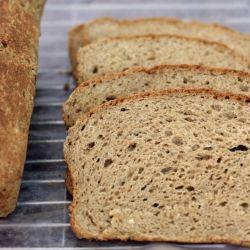 gluten-free multi-grain sandwich bread made with teff.