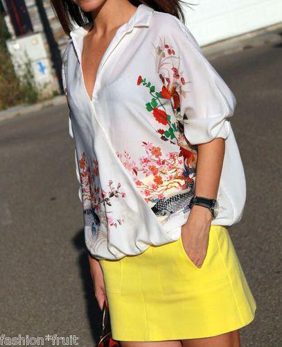Zara Oriental Print Blouse 102