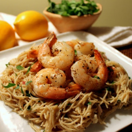 Lemon Pasta with Roasted Shrimp | Pastas, chilli's, spaghetti, pizzas ...