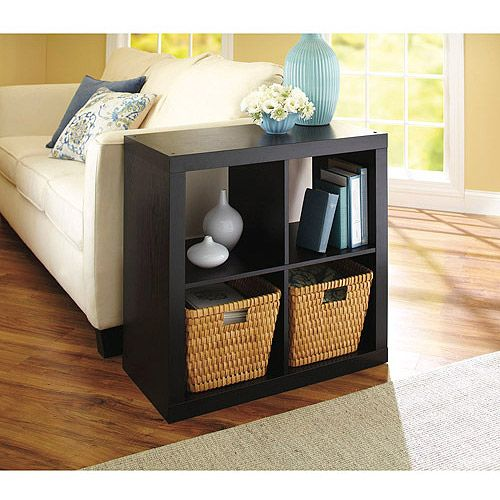 Square 4 Cube Organizer End Table Inside Pinterest
