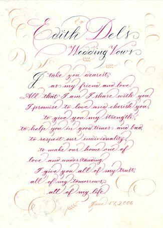 Christian Wedding Vows Samples1