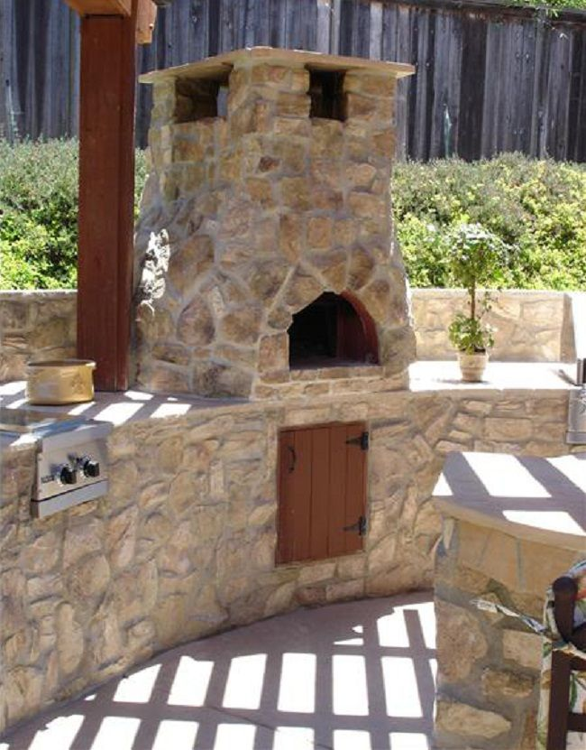 Outdoor stone oven this home is built on faith family friends - Outdoor stone ovens ...