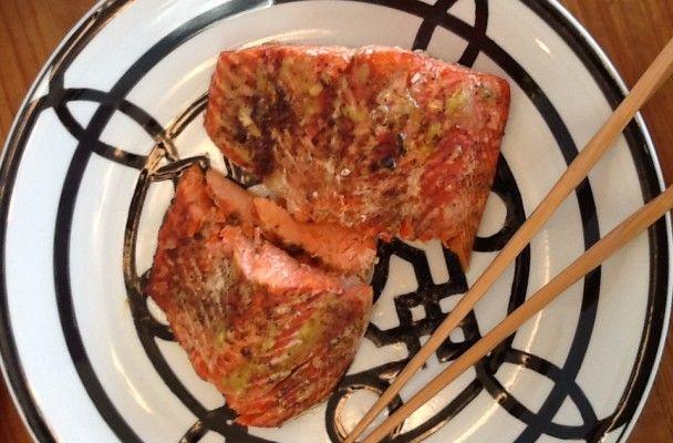 wasabi & ginger roasted salmon | FOOD! | Pinterest