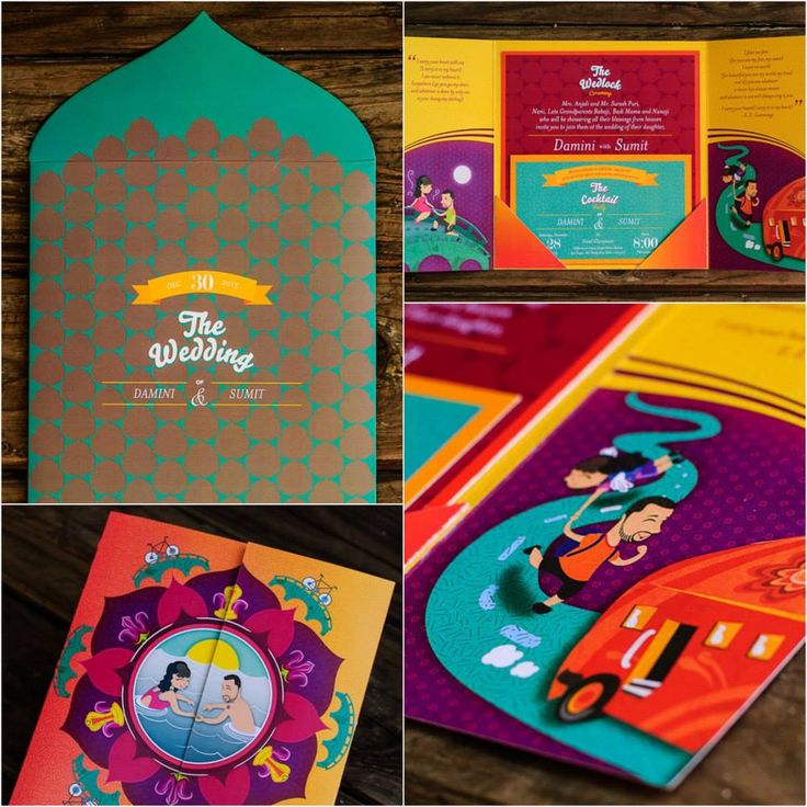 The Mughal Collection - Indian Wedding Invitation Gatefold - best of invitation card vector art