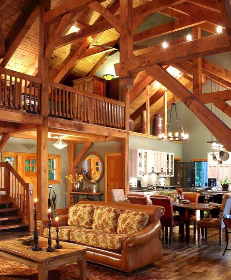 Timber Frame Interior Dream Homes Pinterest