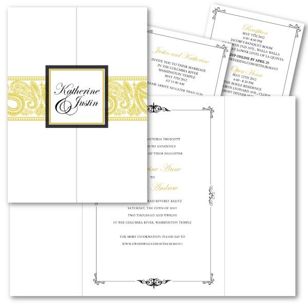 Tri Fold Invitation is good invitations ideas