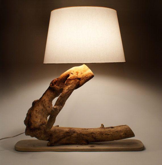 Luxurious lamp driftwood lamp natural lamp handmade lamp natural - Hand made lamps ...