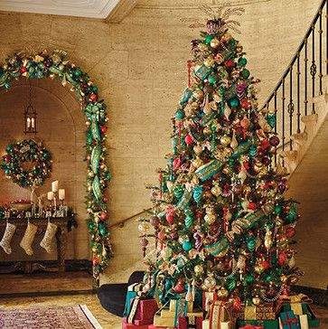 Jewel tone Christmas tree | Christmas Decorating Ideas | Pinterest