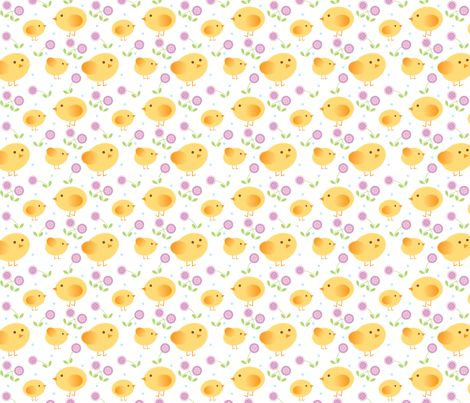 [Kid's PJs] chicks fabric by cindy_lindgren on Spoonflower - custom fabric