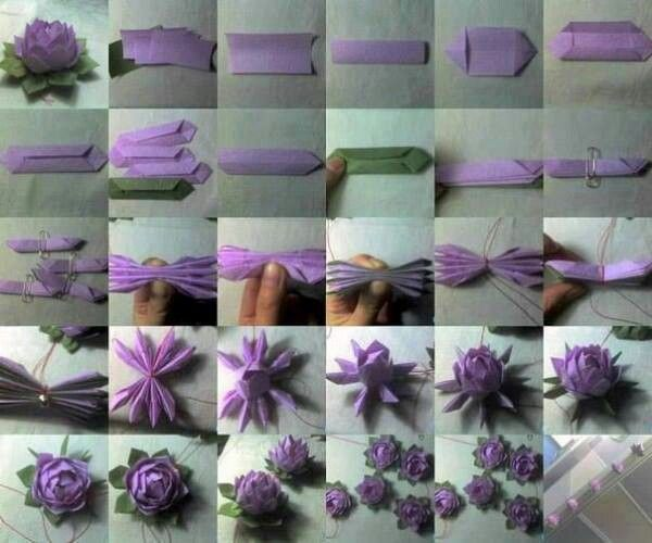 How to make a paper lotus flower origami pinterest for How to make a lotus with paper