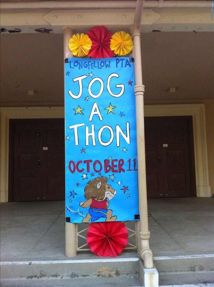 PTA Jog-A-Thon banner