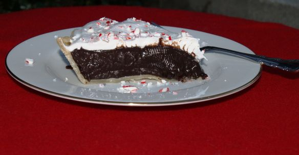 Dark Chocolate Pie with a Holiday Twist | Christmas | Pinterest