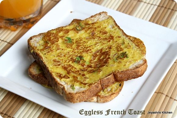 Eggless French toast( Savory Version)
