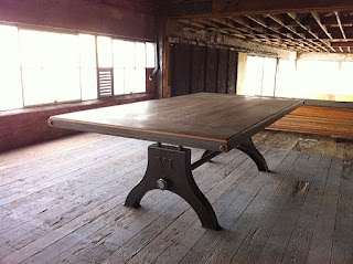 dining table from vintage industrial