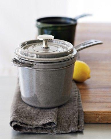... love the shape of this 3 qt. Staub Saucepan. Totally getting this  Staub