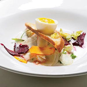 Pickled Vegetable Salad with Soft-Boiled Eggs | Recipe