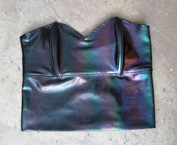 ROJAS hologram black prism bustier..corset tube by rojasclothing, $58 ...