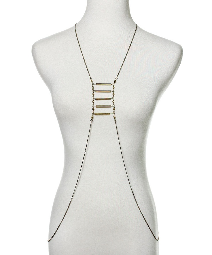 Delicacy Body Necklace - Antique Gold