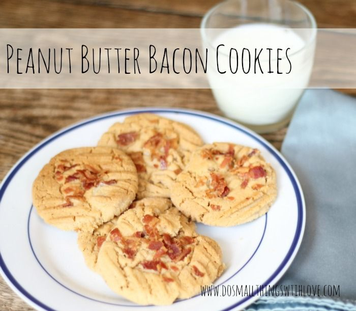 small things: Peanut Butter Bacon Cookies
