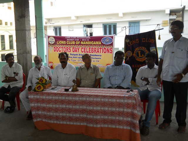 Nandigama lions club india club members celebrated doctor s day