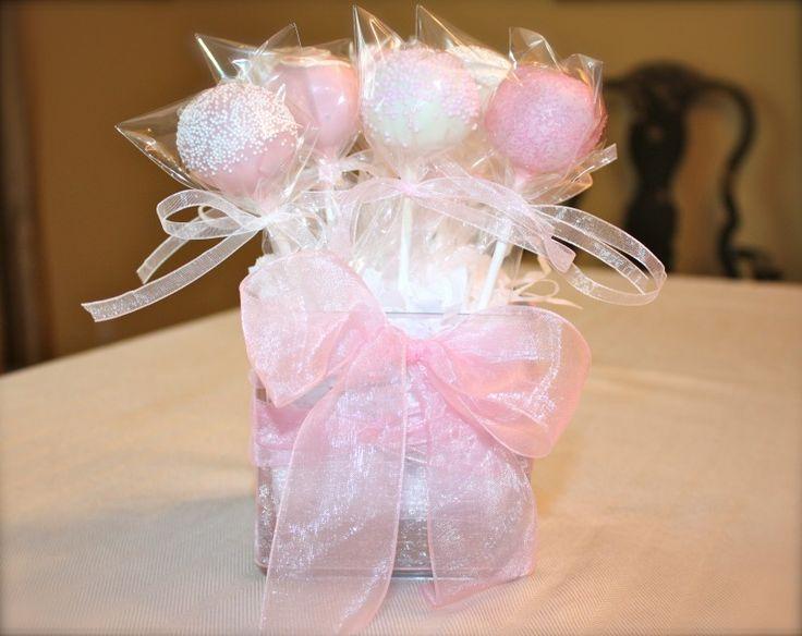 Cake Pop Centerpieces For Baptism : cake pop centerpieces