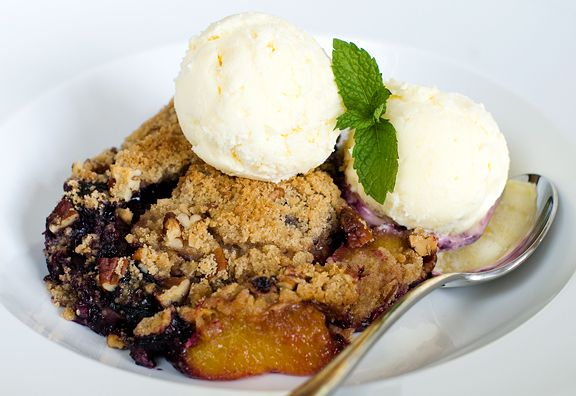 blueberry peach crisp recipe | use real butter Surprisingly low ...