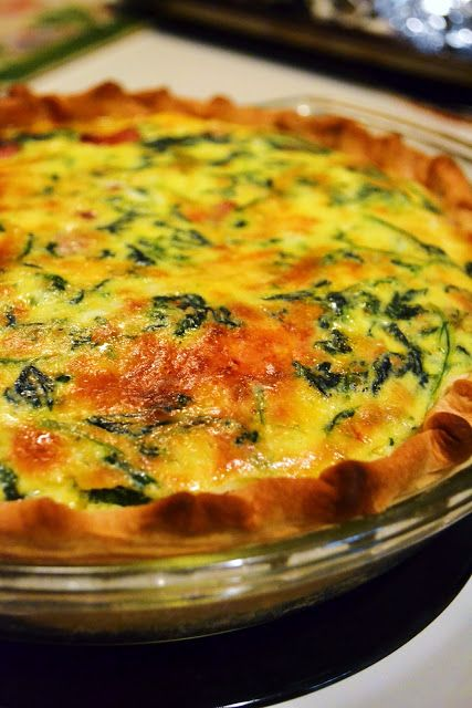 Spicy Sausage Spinach Quiche | Kitchen | Pinterest