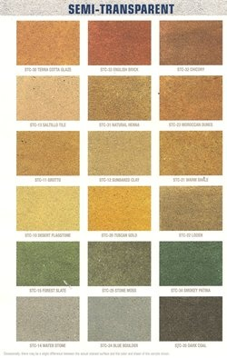 Behr semi transparent concrete stains curb appeal and for Deck paint colors home depot
