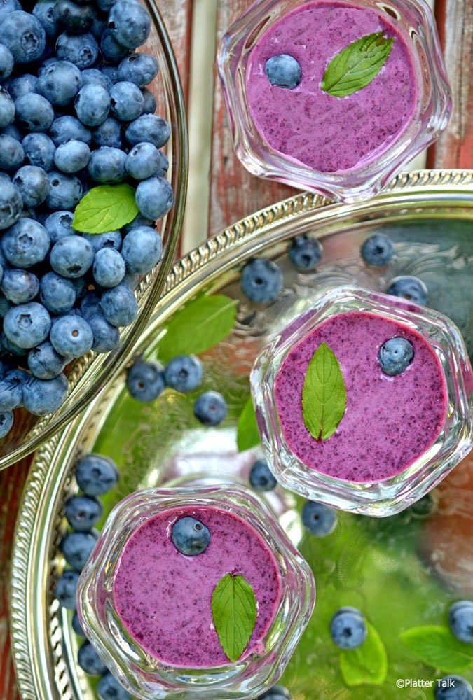 Platter Talk: Chilled Blueberry Soup | *Blogger Soup Recipes* | Pinte ...