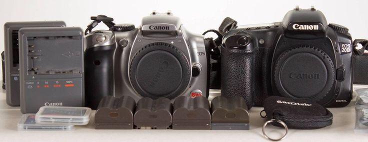 Canon EOS 20D & Digital Rebel 300D SLR Cameras For Parts or Repair # ...