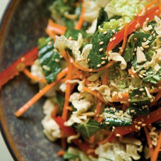 Napa Cabbage Salad: Napa cabbage and bok choy with toasted ramen ...