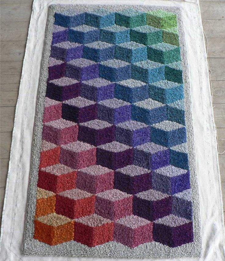 tumbling blocks pattern Crochet Afghans/Blankets Pinterest