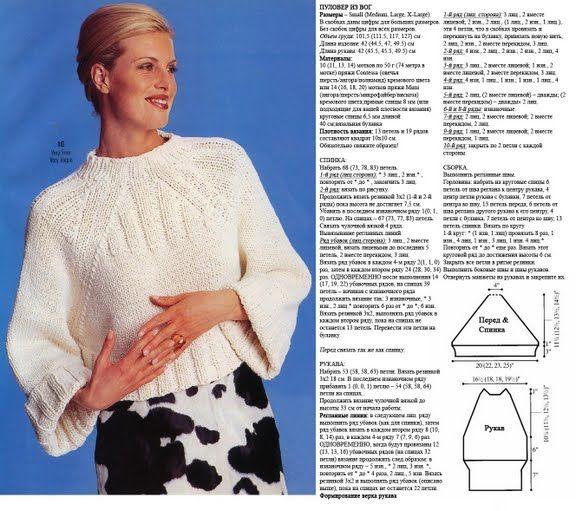 Модные вязаные вещи с описанием