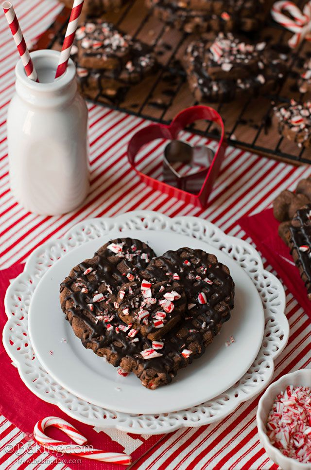 Peppermint Chocolate Mocha Shortbread Cookies