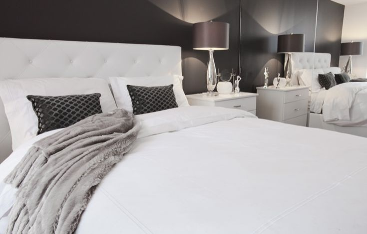 Grey And White Bedroom Image Review