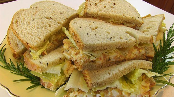 Betty's Deviled Ham and Egg Salad on Rye | bettyskitchen | Pinterest