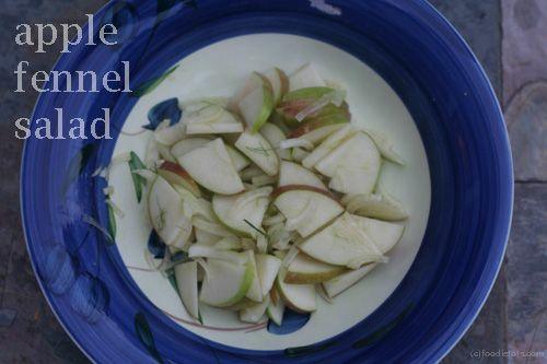 Apple Fennel Salad | food inspiration board | Pinterest