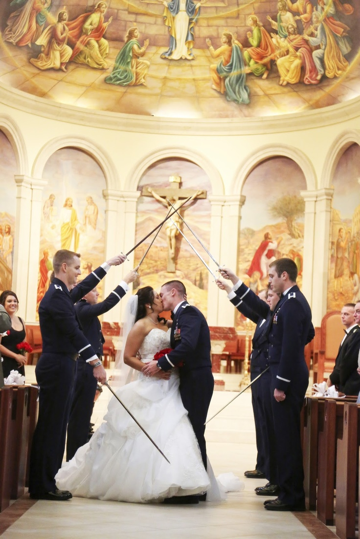At Last, wedding + event design: military sword ceremony exit