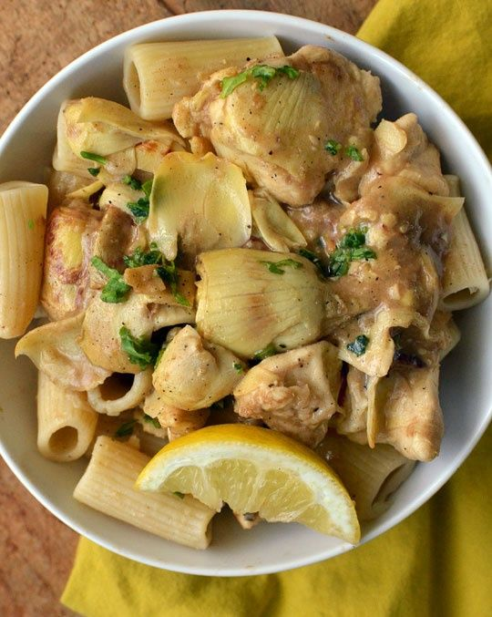 Chicken and Artichokes in Wine Sauce | Favorite recipes | Pinterest