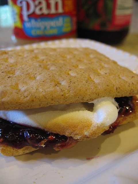 Peanut Butter & Jelly S'Mores | Peanut Butter & Jelly | Pinterest